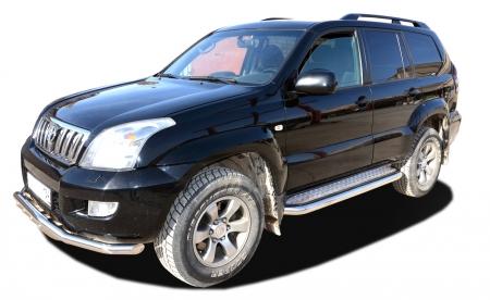 TOYOTA   Land Cruiser Prado 120     2003-2009   Пороги с накладным листом  76